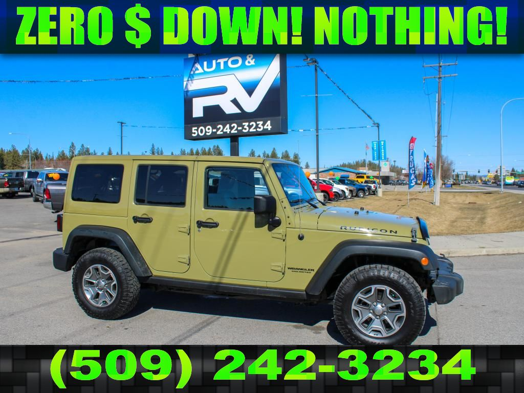 Pre-Owned 2013 Jeep Wrangler Unlimited Rubicon 3.6L V6 4x4 SUV