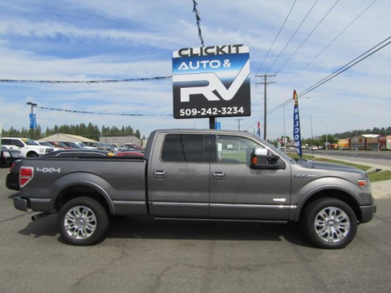 Pre-Owned 2014 Ford F-150 PLATINUM 3.5L V6 EcoBoost 4x4 Truck