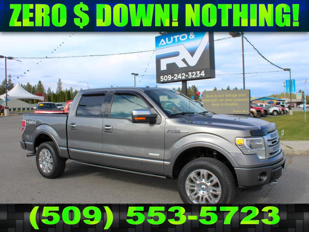 Pre-Owned 2013 Ford F-150 PLATINUM 3.5L V6 4x4 EcoBoost Truck