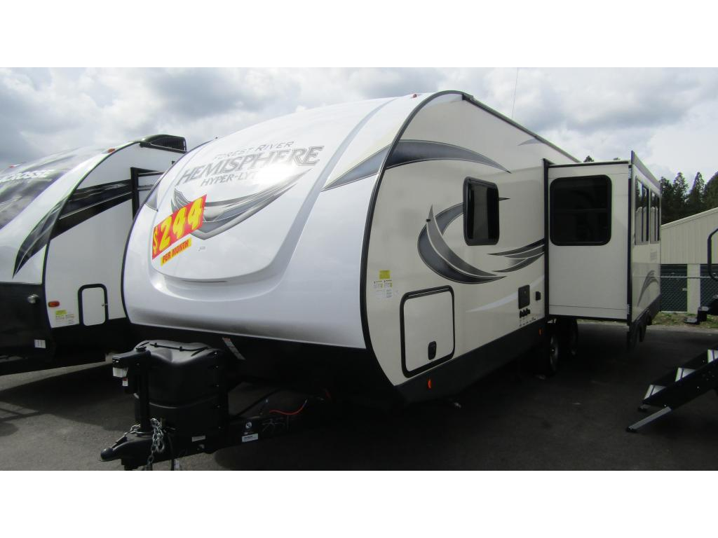 New 2019 FOREST RIVER SALEM HEMISPHERE HYPER LYTE 26RLHL 1 Slide Sleeps 6 Travel Trailer