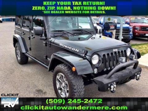 Pre-Owned 2015 Jeep Wrangler Unlimited Rubicon 3.6L V6 4x4 SUV