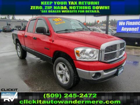 Pre-Owned 2008 Dodge Ram Pickup 1500 SLT Manual 4.7L V8 4x4 Truck