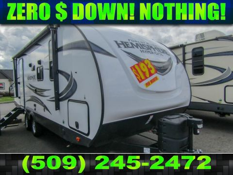 New 2019 FOREST RIVER SALEM HEMISPHERE HYPER LYTE 22RBHL 1 Slide Sleeps 4 Travel Trailer
