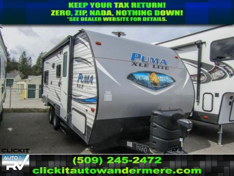 New 2019 PALOMINO PUMA XLE LITE 19RLC Sleeps 6 Travel Trailer